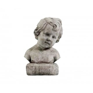Steingussfigur Putto